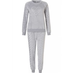 Rebelle soft coral fleece homesuit 'shiny dots love heart'