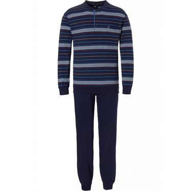 Robson long sleeve men's cotton pyjama 'fine sporty stripes'