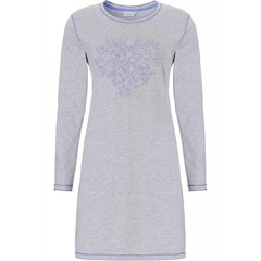 Pastunette long sleeve nightdress 'floral diamanté heart'