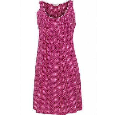 Cyberjammies roze, katoenen, mouwloos nachthemd met plooi-detail aan de halslijn