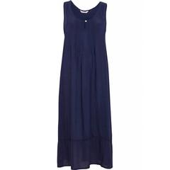 Cyberjammies Nora Rose, geweven, lang modal, navy blauw nachthemd