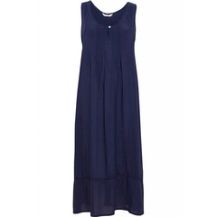 Cyberjammies Nora Rose long woven modal navy blue nightdress