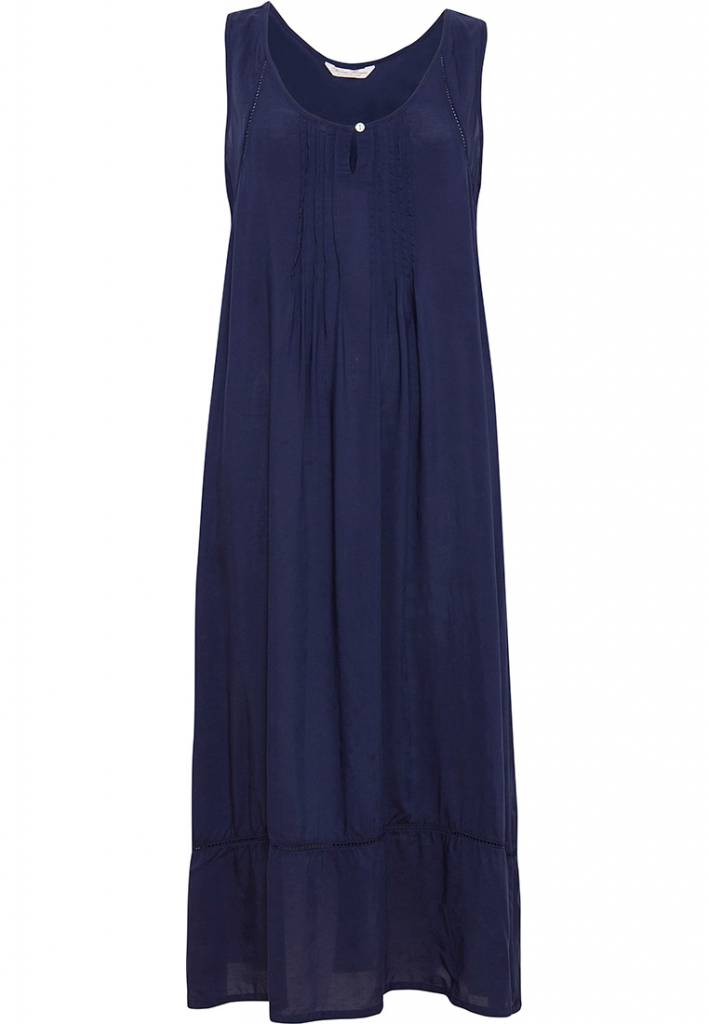4048fb35e Cyberjammies navy blue modal long nightdress with pretty ladder detailing  and hem