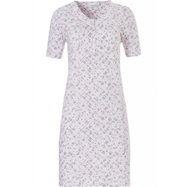 Pastunette soft blushing pink, 100% cotton, short sleeve nightdress 'floral intuition'