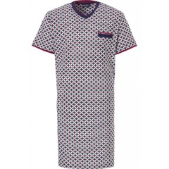 Pastunette for Men men's short sleeve cotton nightshirt 'link of diamonds'