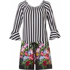 Pastunette Beach holiday floral all-in-one shorty 'circus of flowers'