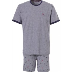 Pastunette for Men men's short sleeve cotton short set 'rising dragon fly'