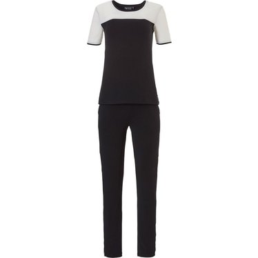 Pastunette Deluxe pyjama met korte mouwen 'luxury in monochrome'