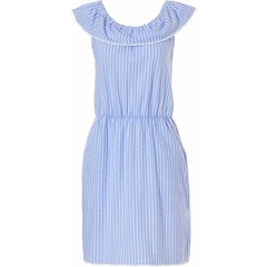 Rebelle off the shoulder (beach style) cotton (night)dress 'seaside stripes'
