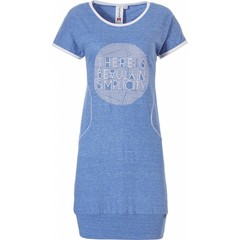 Rebelle short sleeve nightdress with banded hem 'beauty in simplicity diamante'