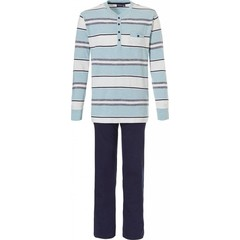 Pastunette for Men long sleeve cotton pyjama 'block of fine stripes'