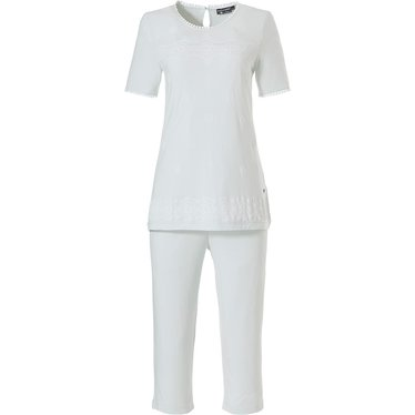 Pastunette Deluxe short sleeve bamboo (house)pyjama 'pure delicate elegance'