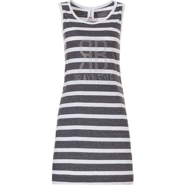 Rebelle trendy sleeveless stripey nightdress  'ЯB - RELAX IN STYLE diamanté'