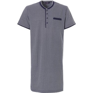 Pastunette for Men men's nightshirt 'perfect pentagons' with buttons