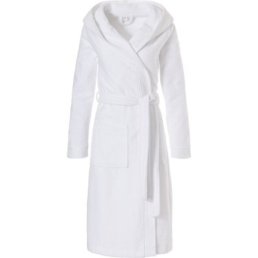 Pastunette zachte, witte badjas met capuchon