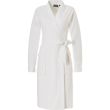 Pastunette Deluxe luxy kimono-stijl ochtendjas van ivoorkleurige velours