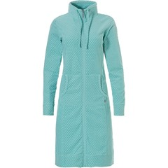 Pastunette Deluxe aqua green terry bathrobe 'little dewdrop' with zip & collar