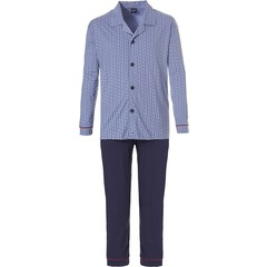 Robson long sleeve full button cotton pyjama set 'diamond lines'