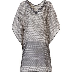 Pastunette Beach zwarte 'see-through' strand cover-up kaftan 'on safari'