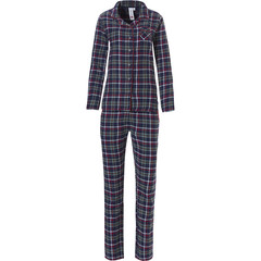 Rebelle long sleeve, full button flannel pyjama set 'trendy seasonal checks'