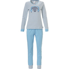Rebelle cotton interlock stripey pyjama set 'Pixie penguin' with cuffs