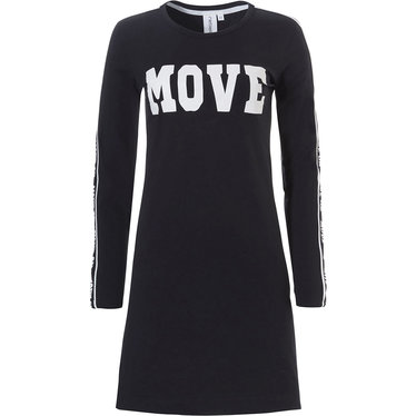 Rebelle long sleeve 'sport it up' cotton-elastane nightdress 'let's MOVE ON'