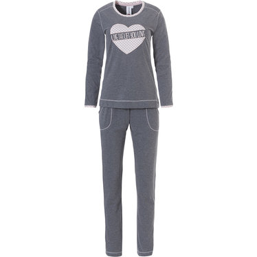Rebelle dames pyjama set 'live the life you love ♥ hart picture