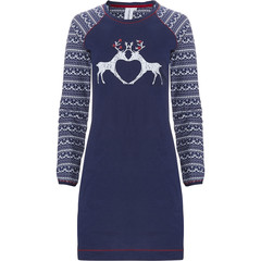 Rebelle long sleeve cotton nightdress 'forever reindeer friends' nordic style