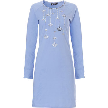 Pastunette Deluxe ladies long sleeve cotton nightdress 'gatsby fans picture'