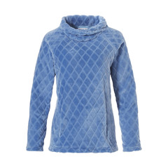 Pastunette zachte fleece tui / jumper met rolkraag 'soft symmetrical diamonds'