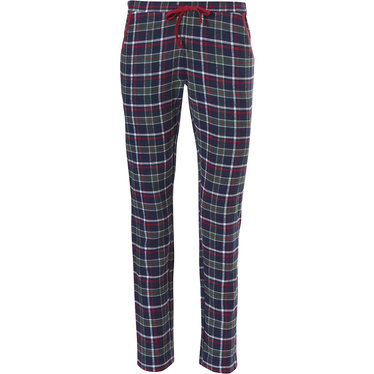Rebelle Mix & Match long flannel pants 'trendy seasonal checks' with tie waist