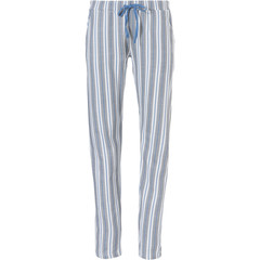 Pastunette warm 'cotton french terry' ladies long pyjama pants 'beautiful blue stripes'