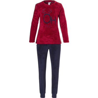 Rebelle soft fleece lounge homesuit with cuffs 'OH DEER'