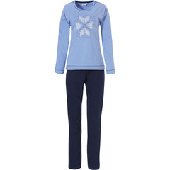Pastunette long sleeve cotton pyjama set 'nordic diamante snowflake'