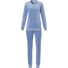Pastunette ladies pale turquoise velvet home lounge suit