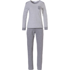 Pastunette ladies long sleeve stripey cotton pyjama set  'beauty in dots & stripes'