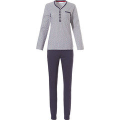 Pastunette ladies long sleeve cotton pyjama set 'pretty fan of shells'