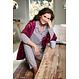 Pastunette Deluxe doorknoop dames pyjama met lange mouwen 'geometric pink dot flower'