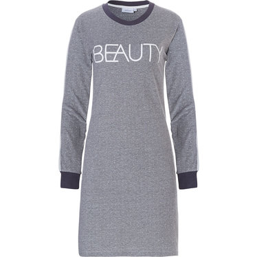 Pastunette ladies long sleeve cotton nightdress 'Beauty in Dots'