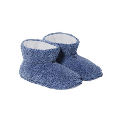 Rebelle cool Winter blue, soft melange fleece, ankle slipper boots