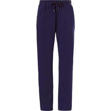 Pastunette for Men lange, blauwe, heren pyjama broek met taillekoord
