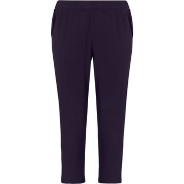 Pastunette Deluxe ladies Mix & Match dark blue, 3/4 lounge-style pyjama pants with side pockets