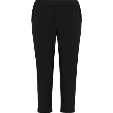 Pastunette Deluxe ladies Mix & Match black, 3/4 lounge-style pyjama pants with side pockets