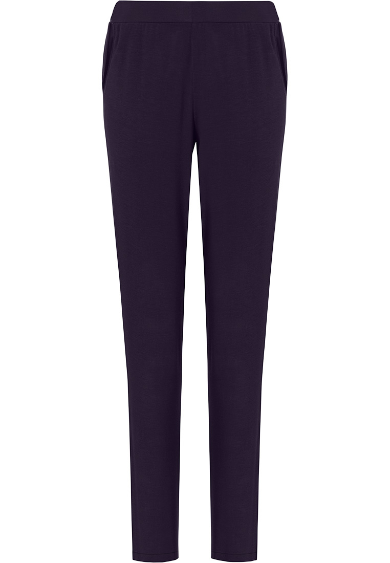 Pastunette Deluxe ladies Mix & Match dark blue, lounge-style long pyjama pants with side pockets