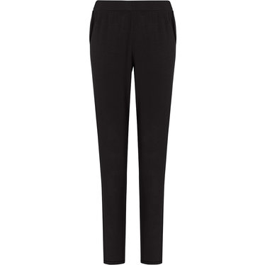 Pastunette Deluxe ladies Mix & Match black, lounge-style long pyjama pants with side pockets