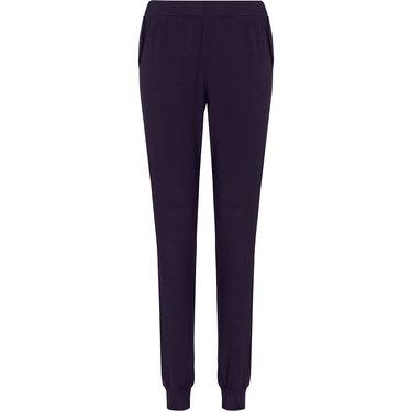 Pastunette Deluxe donkerblauwe Mix & Match lange pyjama broek voor dames met boorden en zakken
