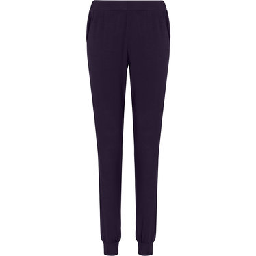 Pastunette Deluxe ladies Mix & Match dark blue, lounge-style long pyjama pants with cuffs and side pockets
