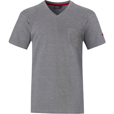 Pastunette for Men men's Mix & Match grey short sleeve pyjama top with v-neck and chest pocket