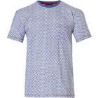 Pastunette for Men mens short sleeve Mix & Match cotton pyjama top 'cool lines'-pattern