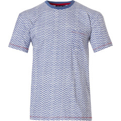 Pastunette for Men mens Mix & Match short sleeve cotton top 'cool lines'